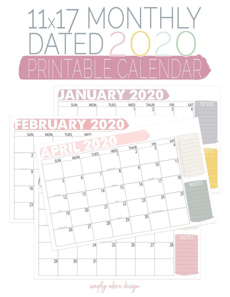 Printable Monthly Calendar Dated Calendar Monthly