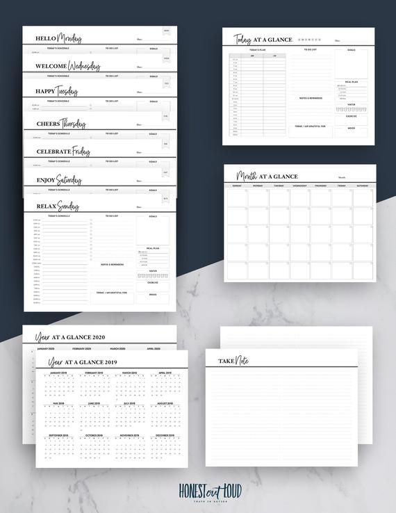 Printable Pdf Planner For 2020 2021 Day Week Month