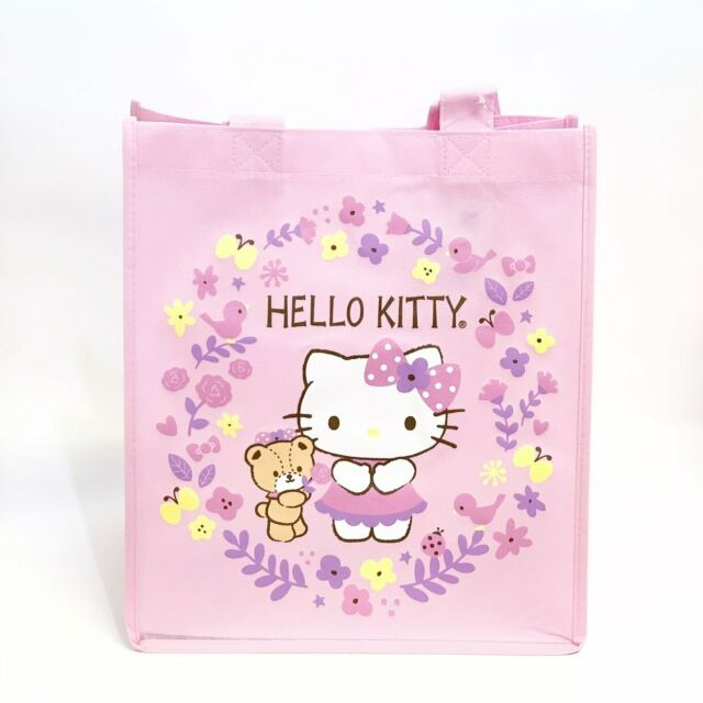 Sanrio Hello Kitty Tiny Chum Pink Flower Reusable Tote