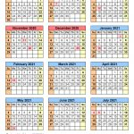 School Calendars 2020 2021 Free Printable Excel Templates