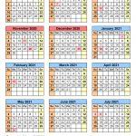 School Calendars 2020 2021 Free Printable Word Templates