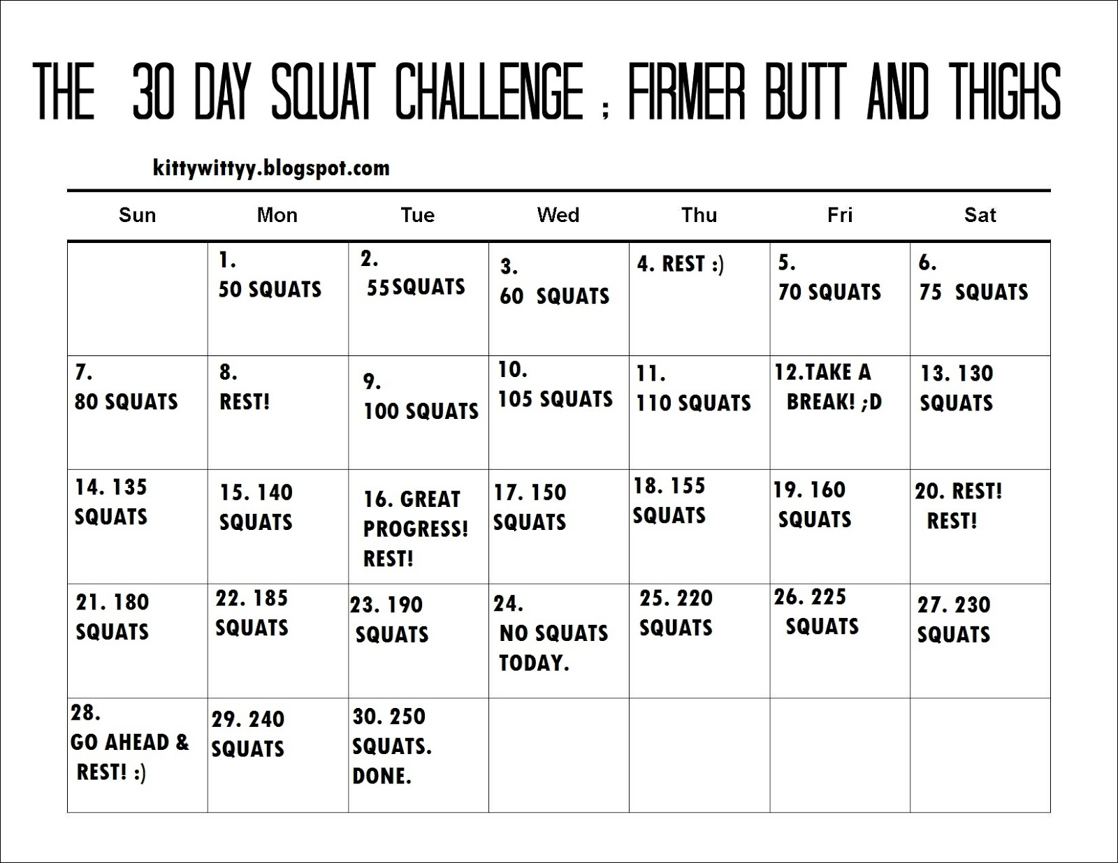 Search Results For 30 Day Ab Challenge Printable Pdf