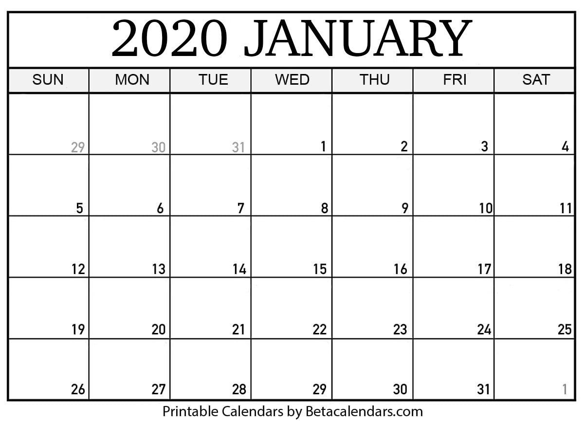 September 2019 To January 2021 Calendar Printable March