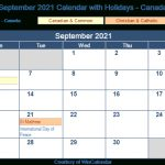 September 2021 Calendar Labour Day Calendar 2021