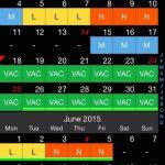 Shift Calendar Proalex Gugel