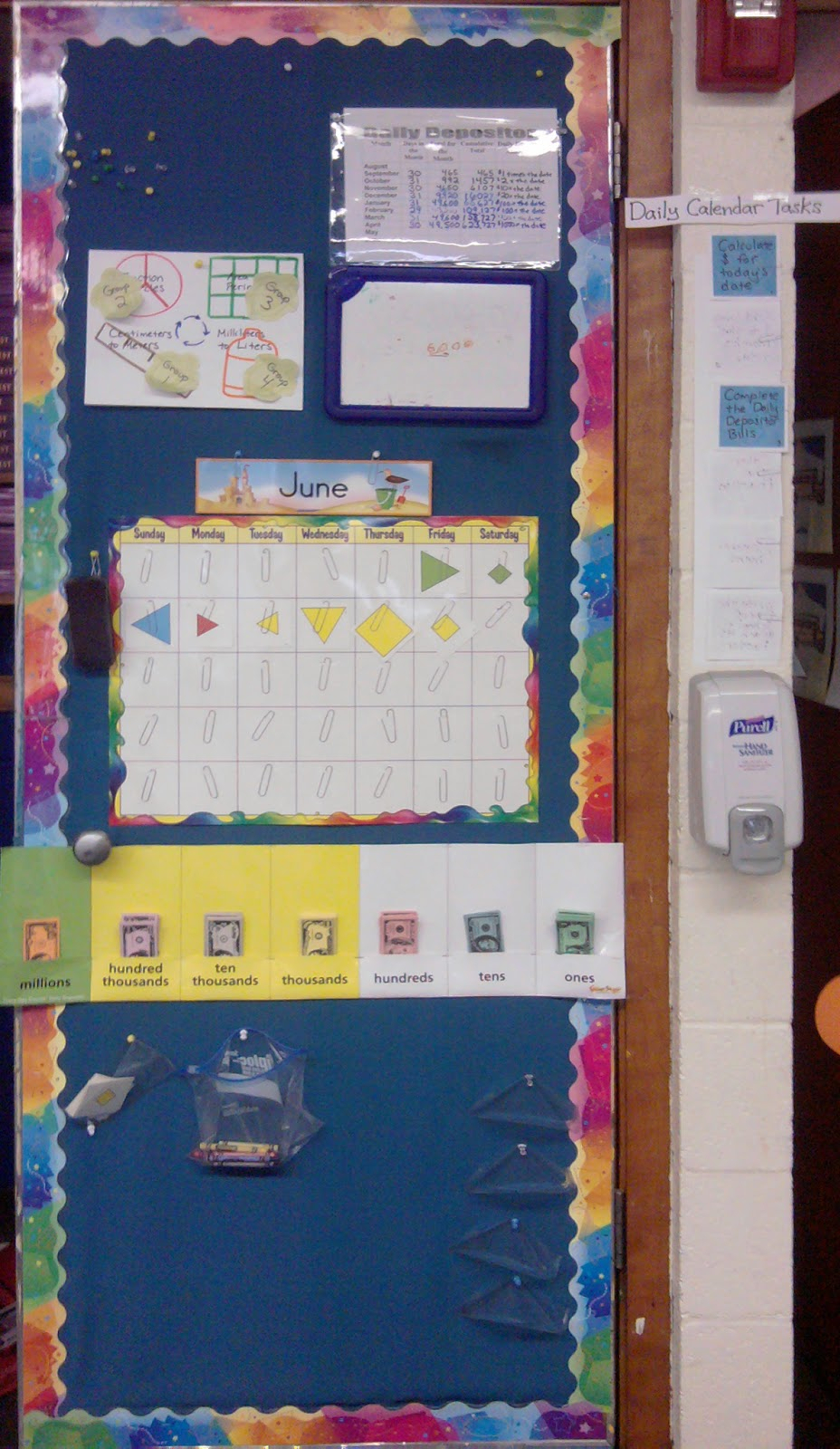 shut the door and teach every day counts calendar area