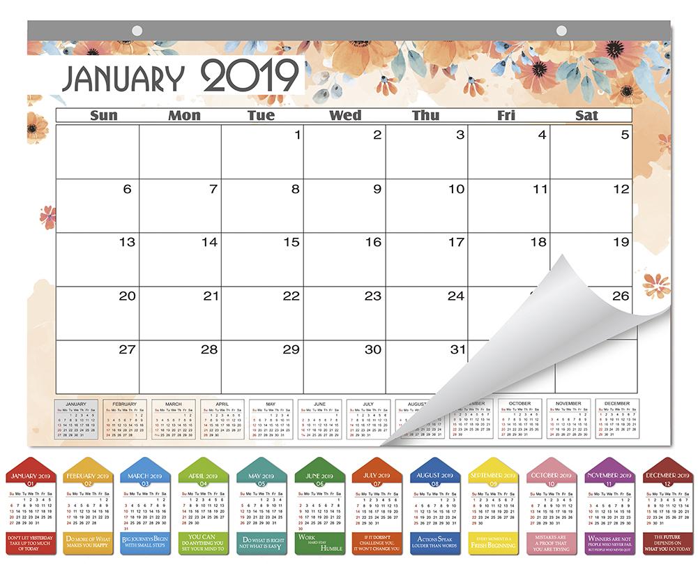 Sicohome Monthly Desk Pad Calendar Ruled Blocks November