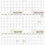 Six Monthly Calendar Office Templates