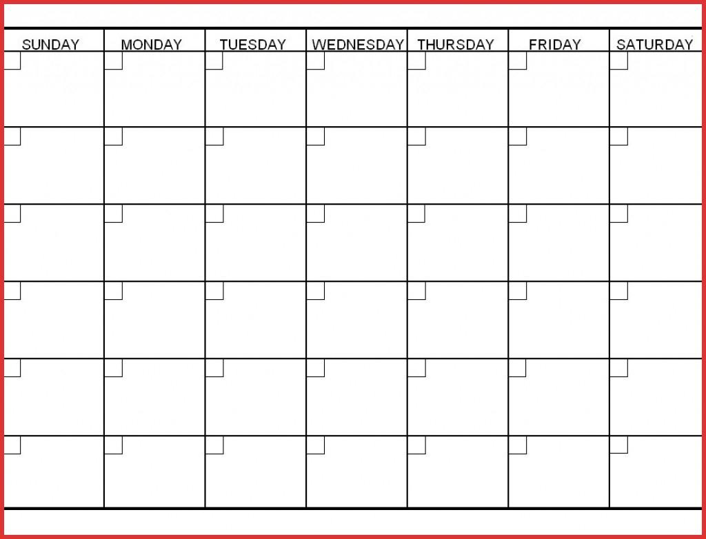 Six Week Calendar Printable Calendar Template 2020