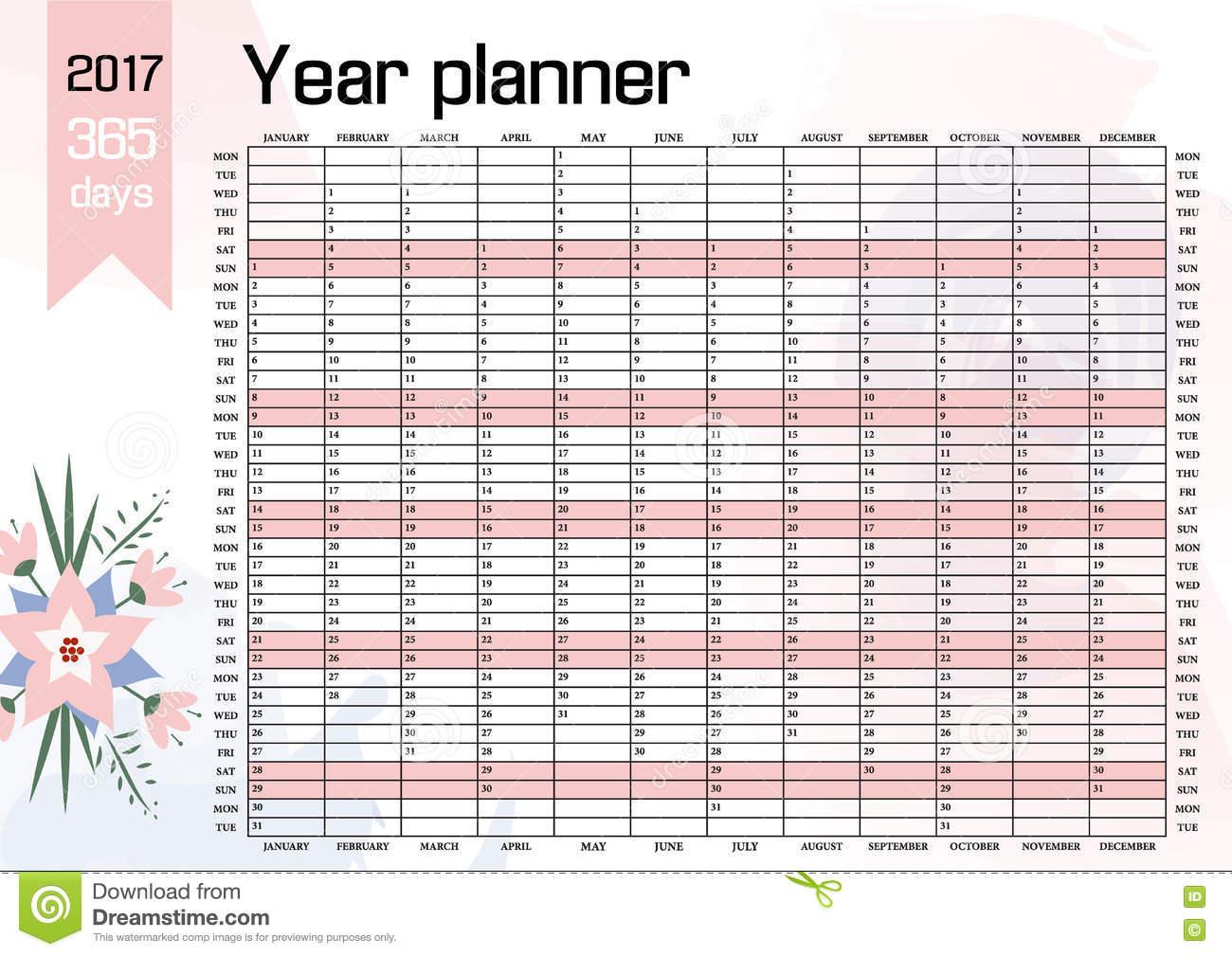Six Year Calendar 2017 2018 2019 2020 2021 And 2022