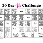 Southern Mom Loves 30 Day Ab Challenge With Calendar And