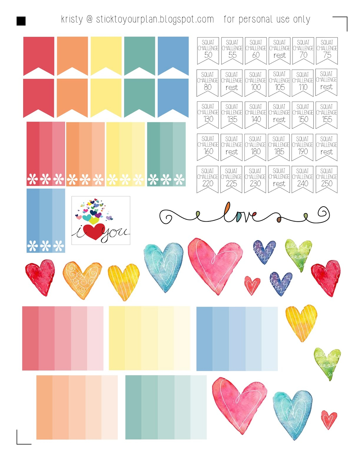 Stick To Your Plan Love A Rainbow Free Printable