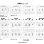 Take Blank Printable Calendars Yearly 2019 E28b86 The Best