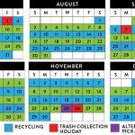Texas Disposal Systems 2021 Service Calendar Printable March