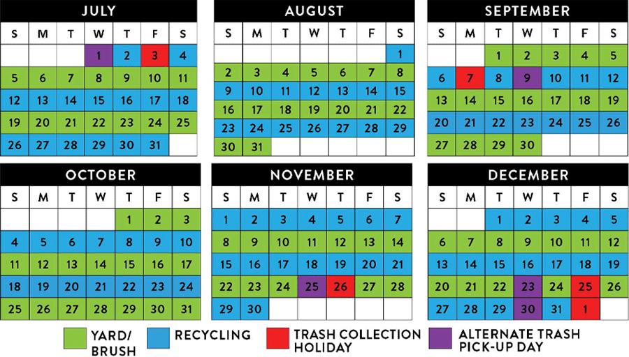 Trash Pickup Schedule Solid Waste Services Public Works