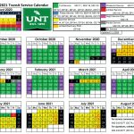 Unt 2021 Spring Final Calendar Printable March