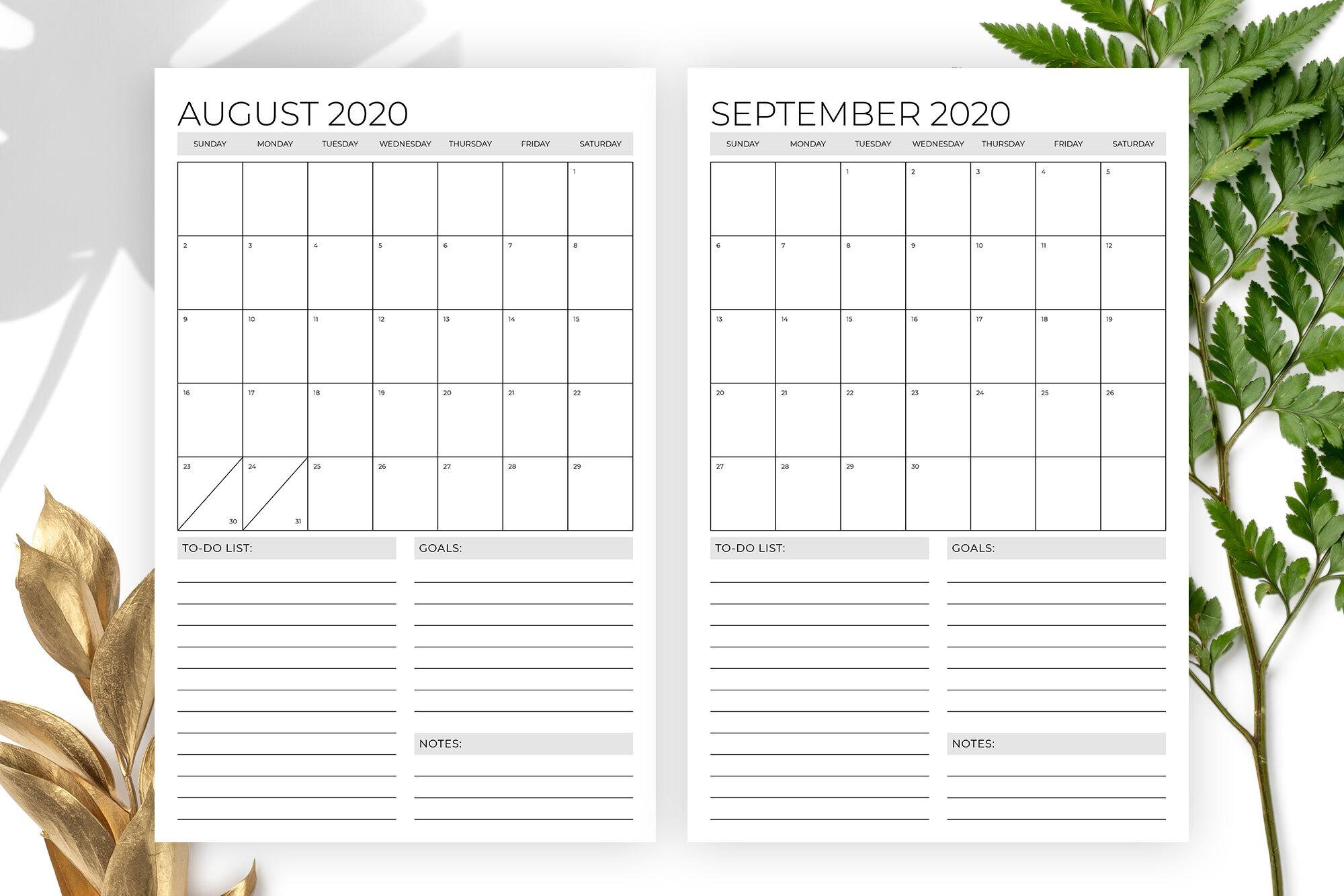 Vertical 11 X 17 Inch 2020 Calendar Templaterunning 2