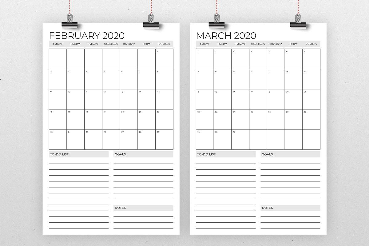 vertical 11 x 17 inch 2020 calendar with images 2020