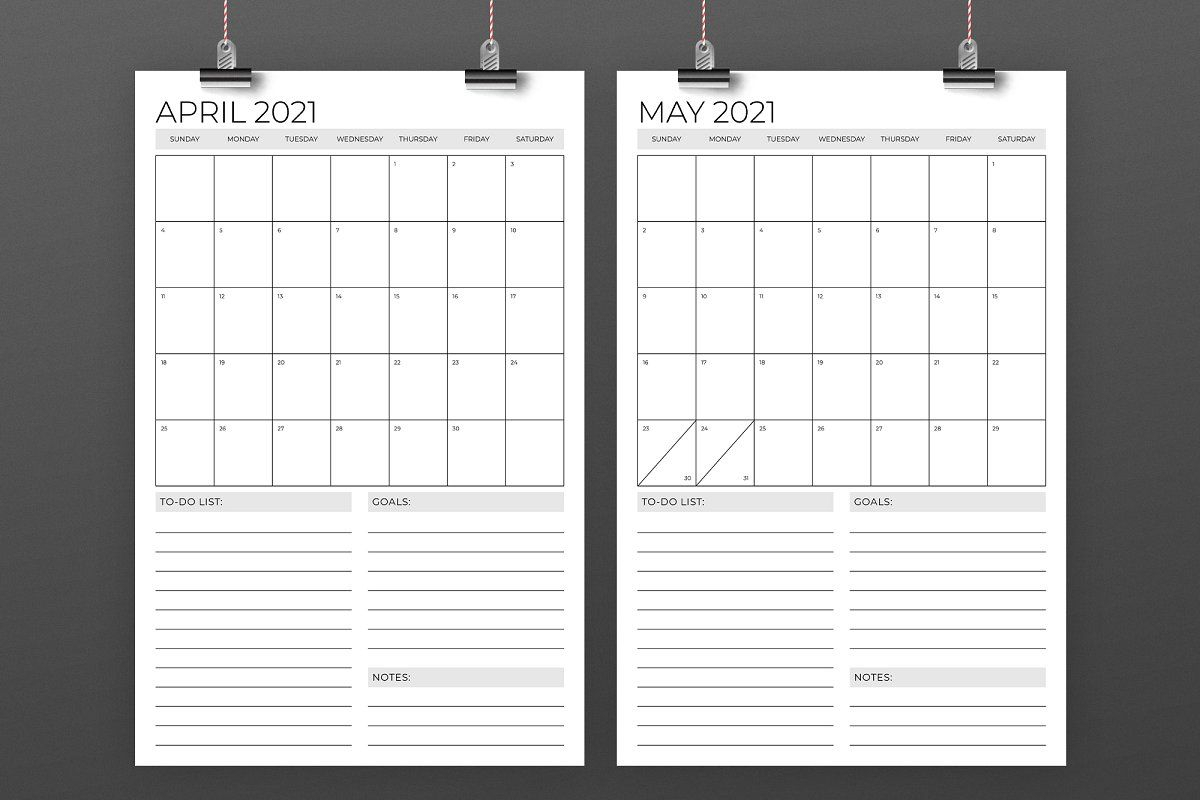Vertical 11 X 17 Inch 2021 Calendar In 2020 With Images