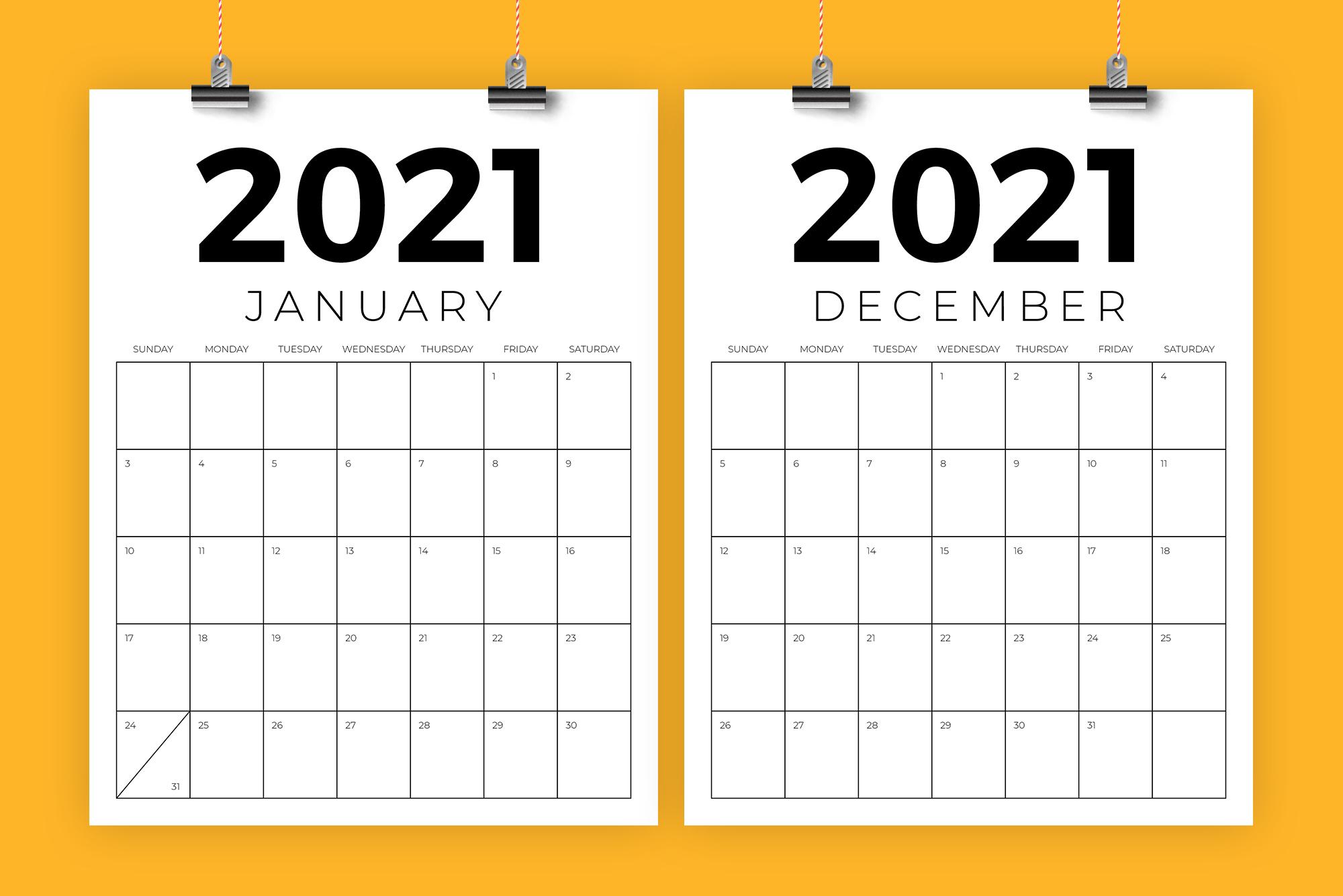 Vertical 8 5 X 11 Inch 2021 Calendar Graphicrunning 2