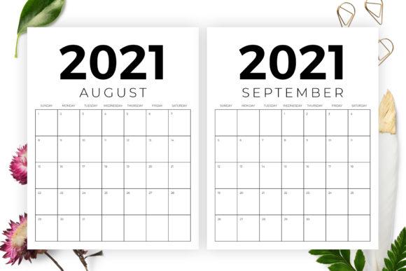 Vertical 8 5 X 11 Inch 2021 Calendar Graphicrunning
