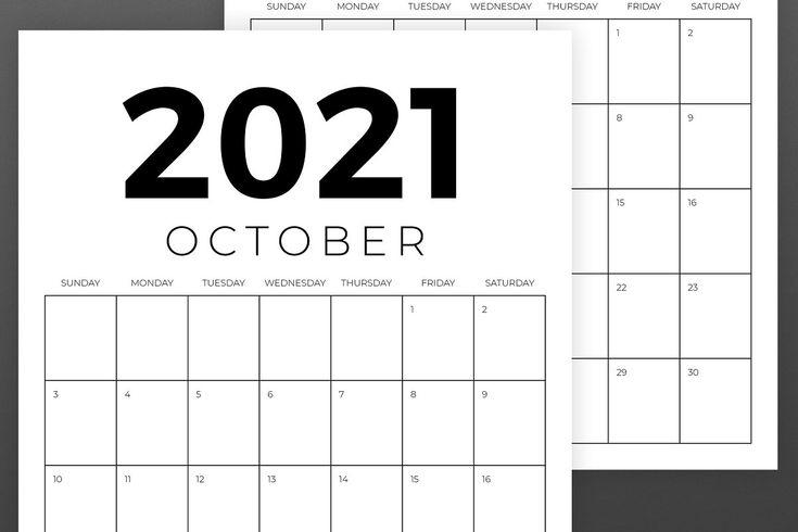 Vertical 8 5 X 11 Inch 2021 Calendar In 2020 2021 1