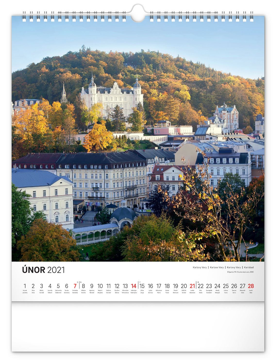 Wall Calendar Czech Republic 2021 30 X 34 Cm Presco Cz 1