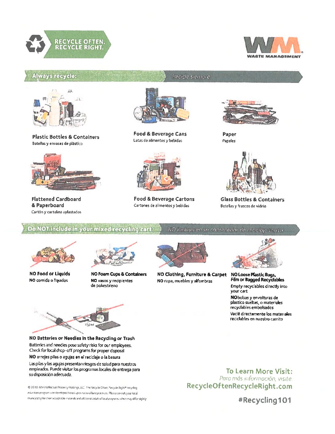 Waste Management Acceptable Recycling Items Currently