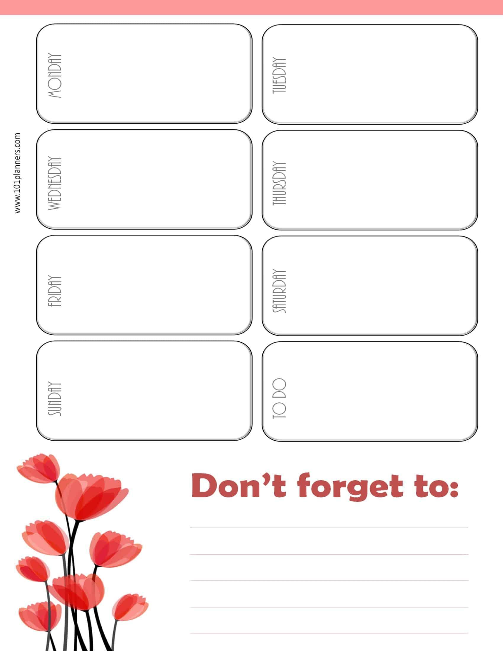 Weekly Calendar Maker Create Free Custom Calendars 1