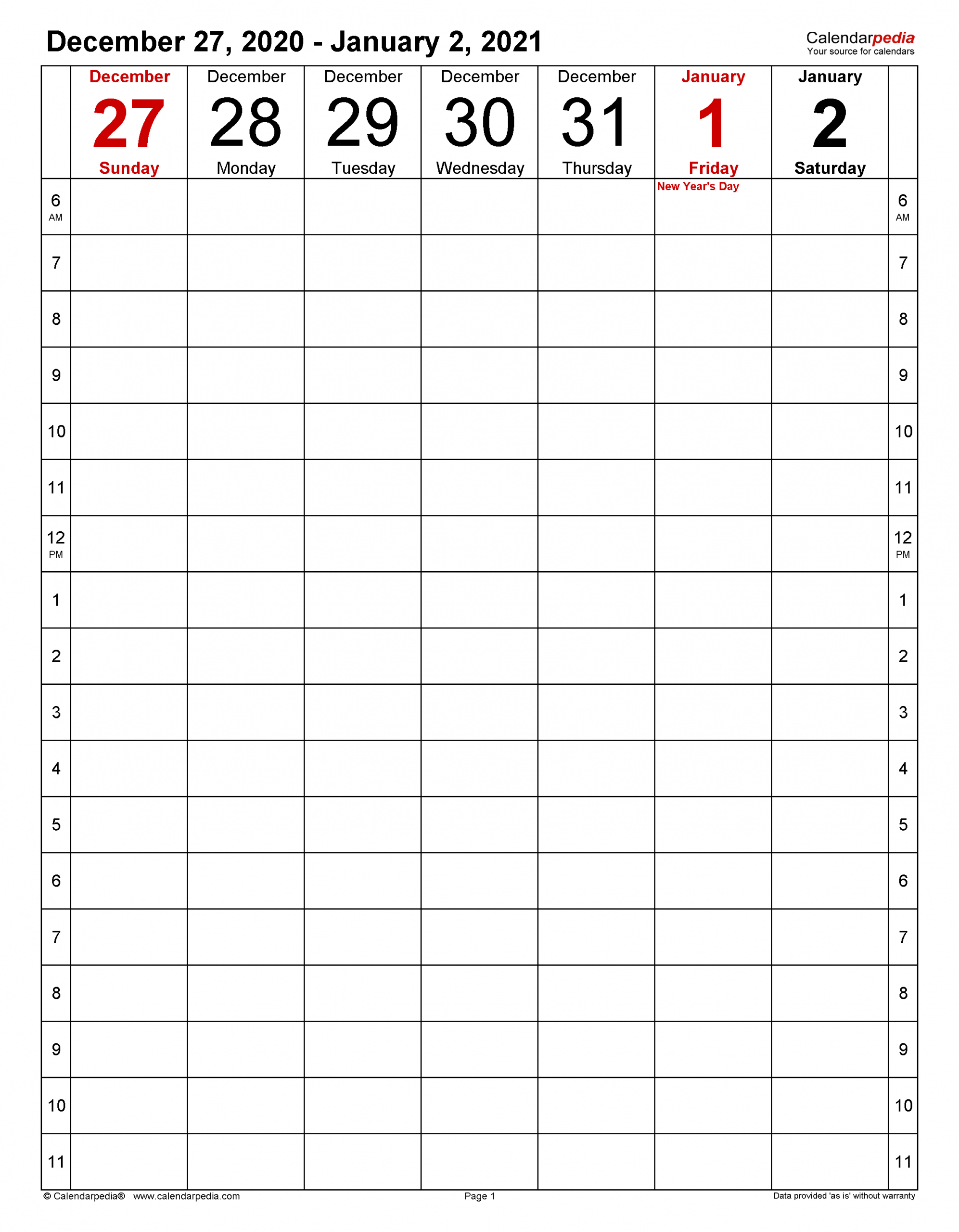 Weekly Calendars 2021 For Word 12 Free Printable Templates 3