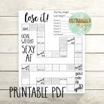 Weight Loss Printable Chart Diy File Digital Download Etsy