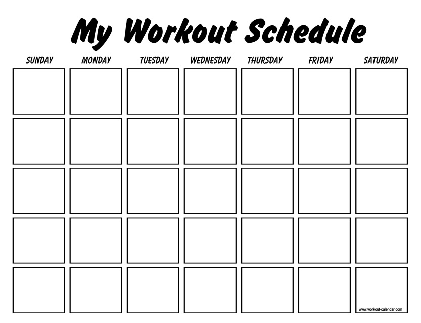 Workout Plan Template Pdf All For Workout