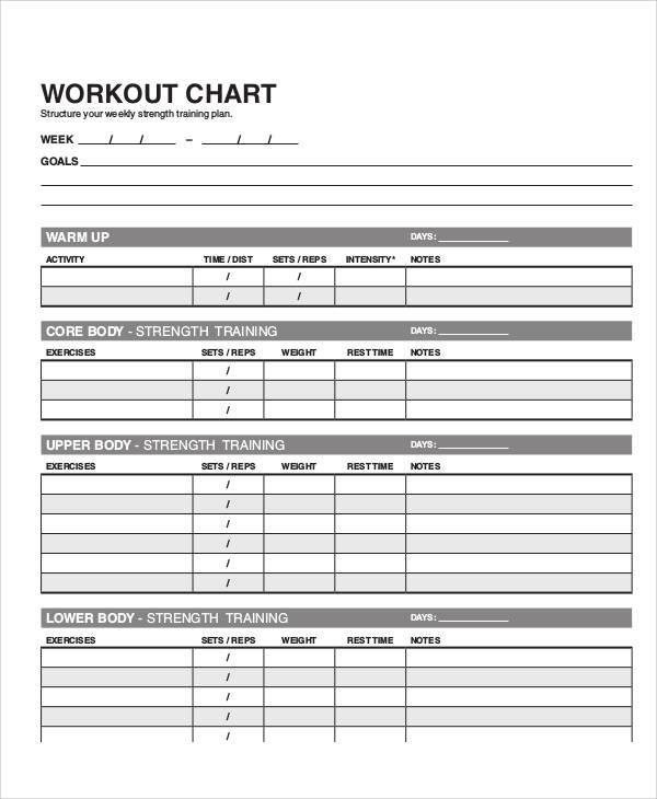 Workout Routine Worksheet Eoua Blog