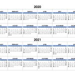 Yearly Calendar 2020 2021 Free Calendar Su
