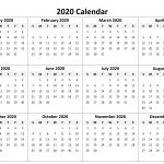 Yearly Calendar 2020 Free Download Printable Yearly