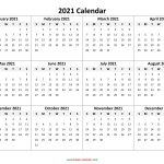 Yearly Calendar 2021 Free Download And Print 2