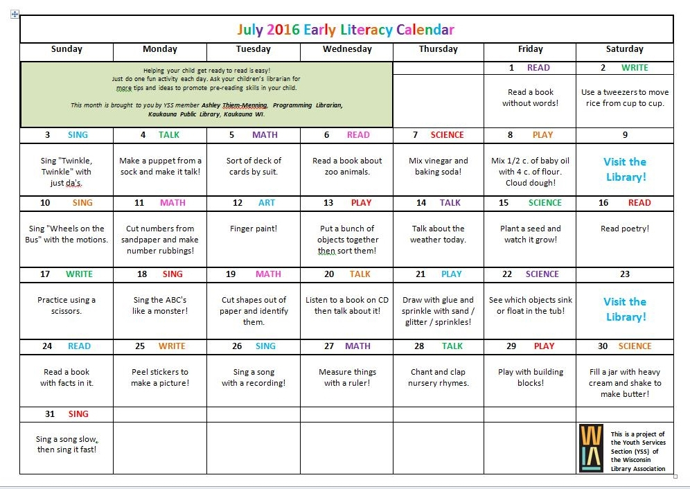 Youth Services Shout Out Yss Blog May June July Literacy
