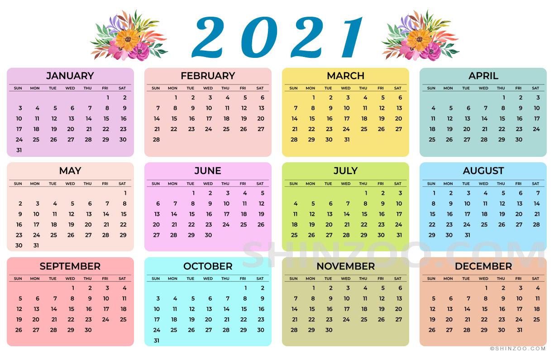2021 Calendar Printable 11x17 Planner Template 2