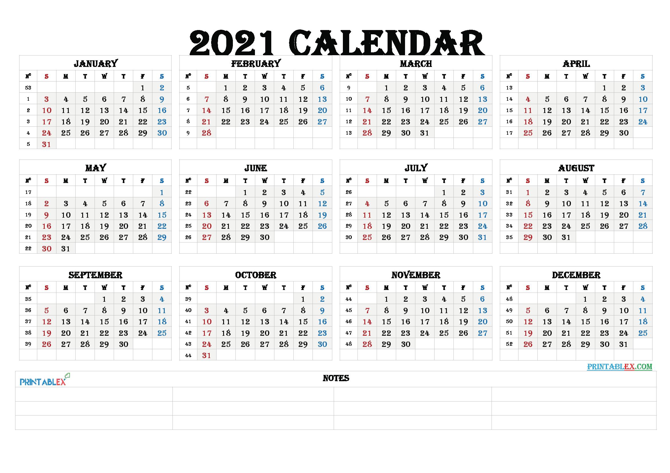 Printable Calendar Templates 2021 Free Printable 2020