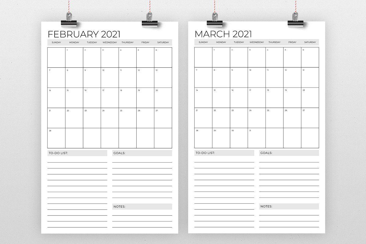 Vertical 11 X 17 Inch 2021 Calendar In 2020 2020 Calendar