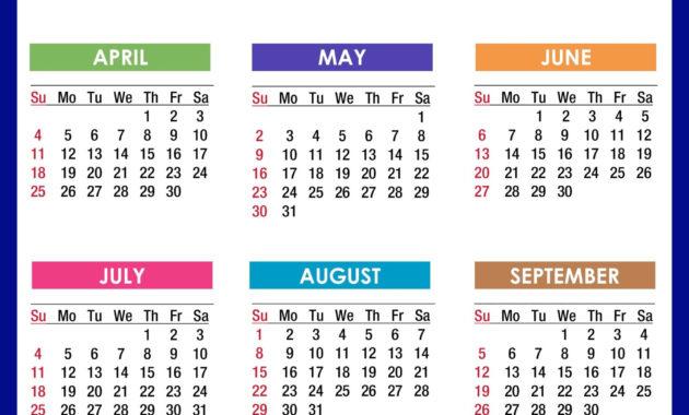 12 Month 2021 Calendar Printable 2021 Printable Calendar