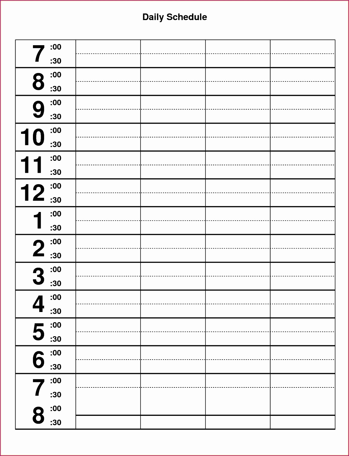 10 Excel Hourly Schedule Template Excel Templates