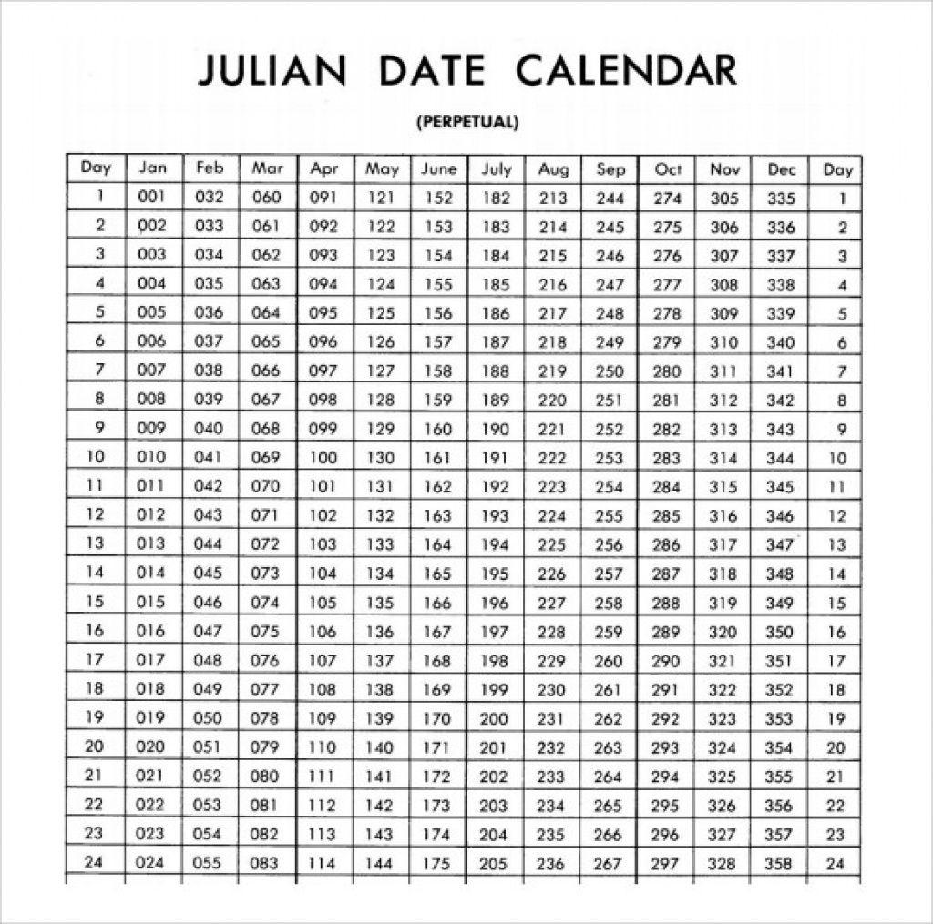2020 Calendar With Julian Dates Printable Example