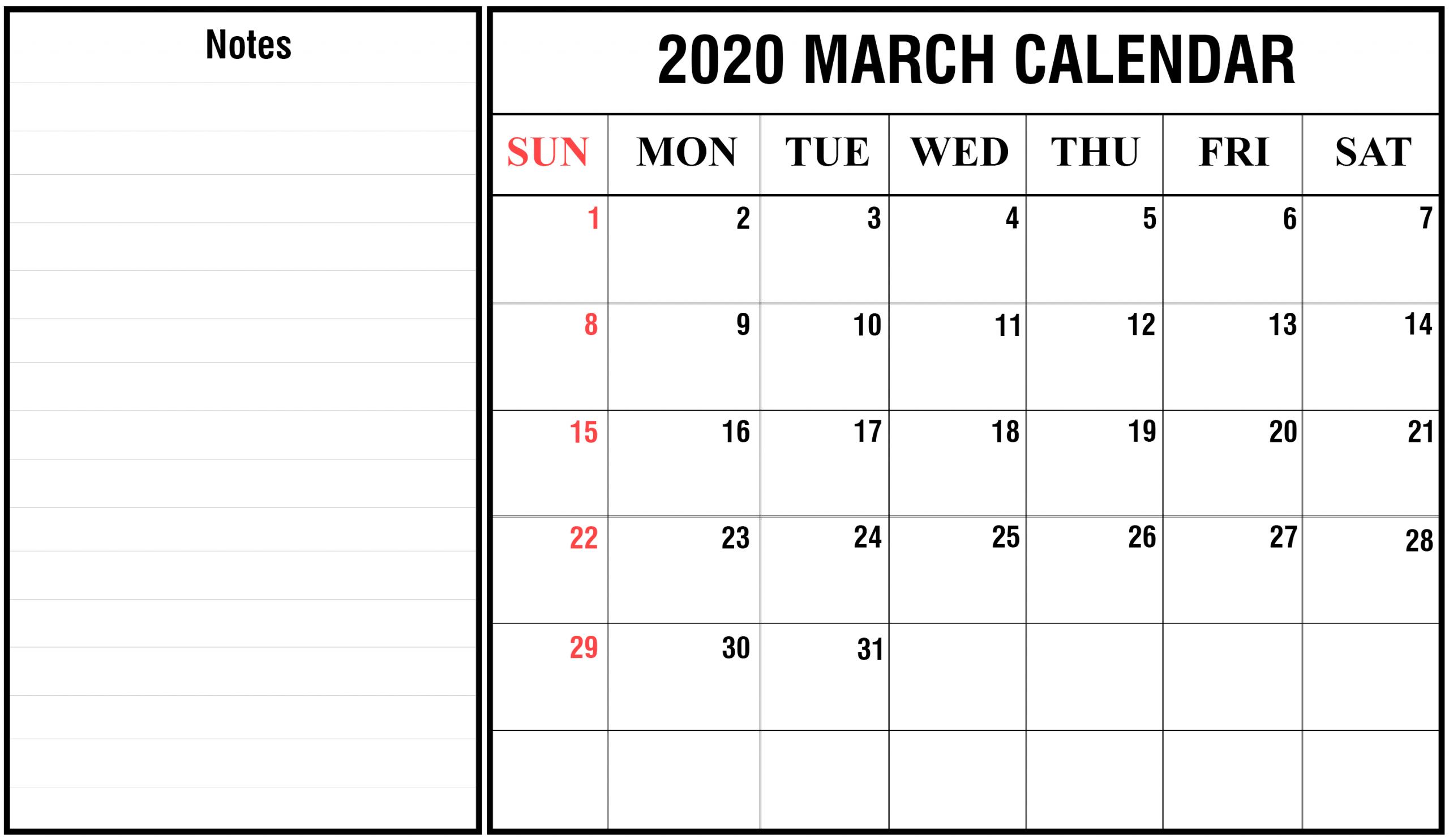 2020 Calendar You Can Edit Calendar Template Printable