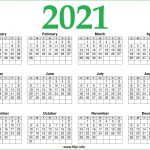 2021 calendar printable one page free free download