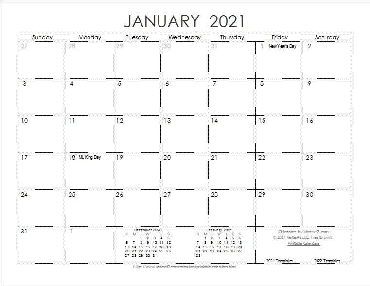 2021 Calendar Printable Printable Week Calendar