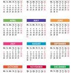 2021 Calendar With Holidays Printable Free Pdf Colorful