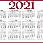 2021 Calendars With Holidays Printable Printable Calendar 1