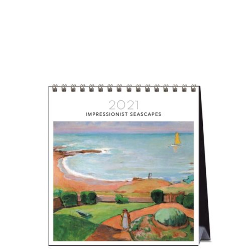 2021 Desk Calendar Impressionist Seascapes Paper Republic