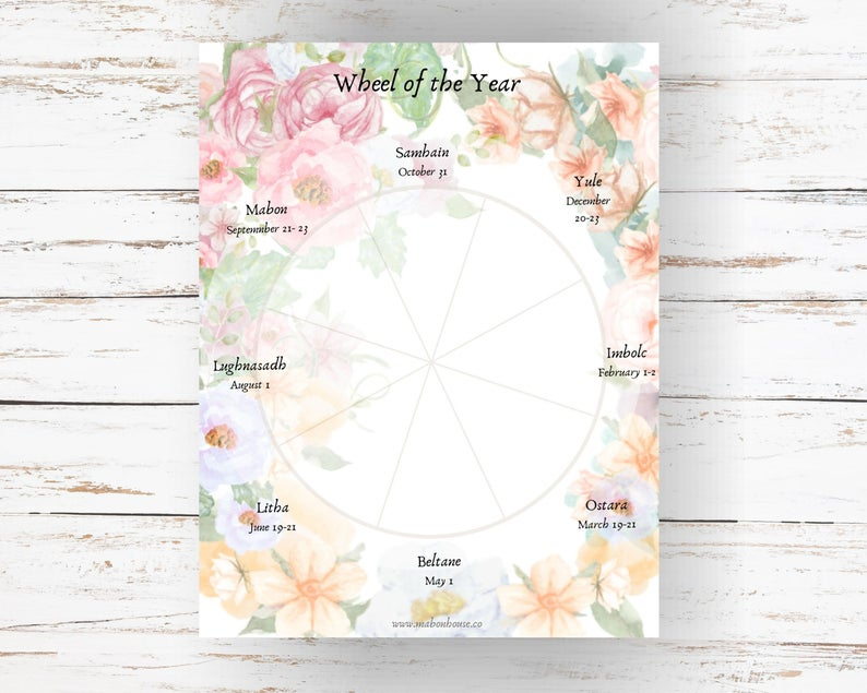 2021 Pagan Planner Printable Planner Pagan Wiccan Etsy